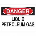 Brady 22326, Liquid Petroleum Gas Sign, Black/Red on White