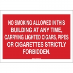 Brady 70450, No Smoking Allowed In This Building… Sign