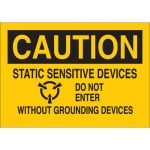 Brady 70534, Sensitive Devices Do Not Enter w/ Out… Sign