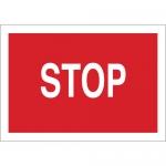 Brady 70536, 10″ x 14″ Fiberglass Stop Sign, White on Red