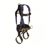 FallTech 7073B2X, Contractor Plus Belted Body Harness,XL, 3 D-Rings