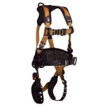 FallTech 7081BRS, ComforTech Gel Belted 3D-Rings Harness with Relief