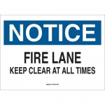 Brady 43257, Notice Fire Lane Keep Clear At All Times Sign