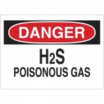 Brady 25439, 10″ x 14″ Polystyrene Danger H2S Poisonous Gas Sign