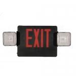 Morris 73031, Red/Black Standard Combo LED Exit & I.E. Light