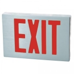 Morris 73340, Brushed Aluminum Face Cast LED Exit Sign