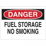 Brady 43249, 7″ x 10″ Aluminum Danger Fuel Storage No Smoking Sign