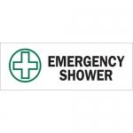 Brady 22659, Emergency Shower Sign, Black/Green on White