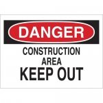 Brady 25804, Danger Construction Area Keep Out Sign