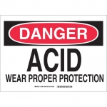 Brady 84333, Proper Protection Sign, Black/Red on White