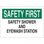 Brady 22655, First Safety Shower & Eyewash Station Sign
