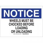 Brady 73632, Be (Mirror) Wheels Must Be Chocked… Sign