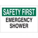 Brady 22639, Shower Sign, Black/Green on White