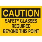 Brady 22593, B-401 Caution Safety Glasses… Sign