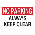 Brady 75071, Always Keep Clear Sign, Black/Red on White