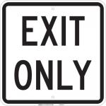 Brady 75113, 18″ x 18″ Fiberglass Exit Only Sign, Black on White