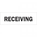 Brady 75155, 14″ x 20″ Fiberglass Receiving Sign, Black on White