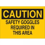 Brady 22597, Safety Goggles Required in This Area Sign