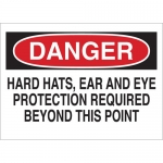 Brady 25215, Eye Protection RequiBeyond This Point Sign