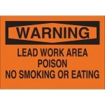 Brady 25741, Warning Lead Work Area Poison No… Sign