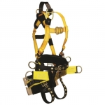 FallTech 8001BS, RoughNeck 7-D Harness with Board Seat