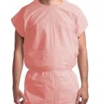 Dynarex 8103, Exam Gown 3 ply T/P/T Universal, Mauve