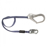FallTech 82043, 4′ Restraint Lanyard with 1 Snap Hook and 1 Rebar Hook