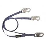 FallTech 8206Y, 6′ Y-Leg Restraint Lanyard with 3 Snap Hooks
