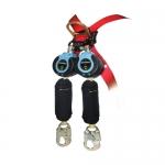 FallTech 82909TB1, DuraTech Twin Leg Web SRD with Carabiner and Hook