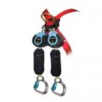 FallTech 82909TB6, DuraTech Twin Leg Web SRD with Carabiner and Hook