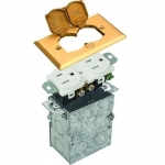 Morris 84000, White Brass Residential Floor Box with Hinged Lid