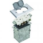 Morris 84001, White Nickel Plated Brass Residential Floor Box