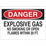 Brady 25431, No Smoking Or Open Flames with in 20 Ft Sign