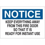 Brady 41099, Everything Away From This Fire Door… Sign