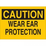Brady 25477, 10″ x 14″ Polystyrene Caution Wear Ear Protection Sign
