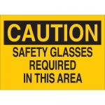 Brady 22595, Safety Glasses Required in This Area Sign