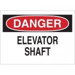 Brady 25623, 10″ x 14″ Polystyrene Danger Elevator Shaft Sign