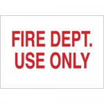 Brady 43287, 10″ x 14″ Aluminum Fire Dept Use Only Sign
