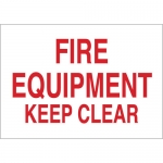 Brady 43289, 10″ x 14″ Aluminum Fire Equipment Keep Clear Sign