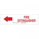 Brady 43292, 7″ x 10″ Aluminum Fire Extinguisher Sign
