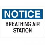 Brady 22637, B-401 Notice Breathing Air Station… Sign