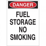 Brady 42649, 10″ x 7″ Aluminum Danger Fuel Storage No Smoking Sign