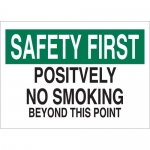 Brady 25097, Positively No Smoking Beyond This Point Sign