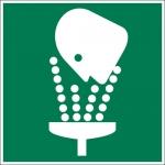 Brady 122483, Eye Wash Station Picto Sign, White on Green