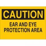 Brady 42771, 7″ x 10″ Aluminum Caution Ear & Eye Protection Area Sign