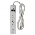 Morris 89020, 4-Outlet Surge Strip with Two 2.1A USB Charging Ports