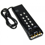 Morris 89093, 3600 Joules 10-Outlet Surge Strip with 2 Transformers