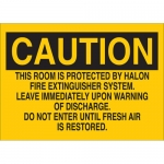 Brady 43221, This Room Is Protected By Halon Fire… Sign