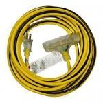 Morris 89304, 50′ SJTW 12/3 Outdoor Extension Cord w/ Light