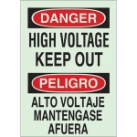 Brady 90147, Bilingual Danger High Voltage Keep Out Sign